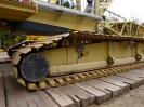 Der 870 Tonnen schwere Raupenkran ist aufgebaut