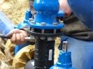 Montage eines Hydranten