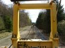 Blick von der Zugmaschine des Kabelpfluges