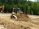 Fundament Bau vorbereitungen haben begonnen